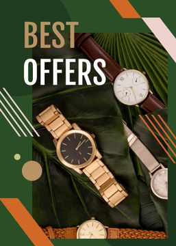 Watches Ad on Green Leaves