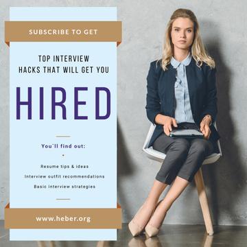 Job Offer Businesswoman Waiting for Interview