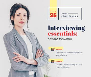 Job Offer confident Businesswoman at Interview