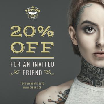Tattoo Studio Ad Young Tattooed Girl