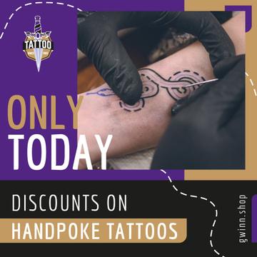 Tattoo Studio Ad Snake Tattoo on Arm