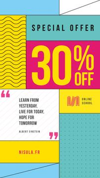 Education Quote on Simple Geometric Background