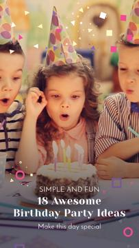Birthday Party Organization Kids Blowing Cake Candles
