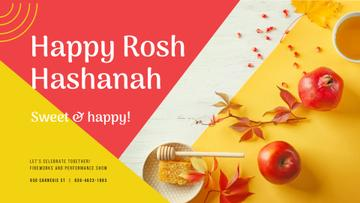 Rosh Hashanah Greeting Apples with Honey