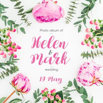 Wedding Invitation Tender Flowers Frame