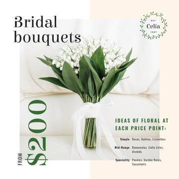 Florist Services Ad Wedding Bouquet with Lily of the Valley