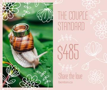 Wedding offer Rings on Snail