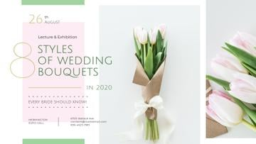 Florist Services Ad Wedding Bouquet with Tulips