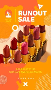 Self-Care Awareness Month Cosmetics Sale Red Lipstick