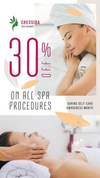 Self-Care Awareness Month Woman Relaxing at Spa