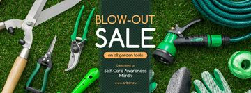 Self-Care Awareness Month Sale Gardening Tools