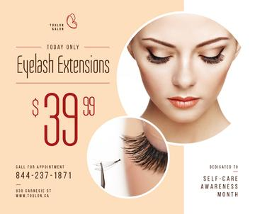 Self-Care Awareness Month Eyelash Extensions Offer