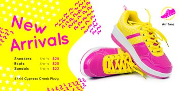 Sport Shoes Sale with Sneakers in Pink and Yellow