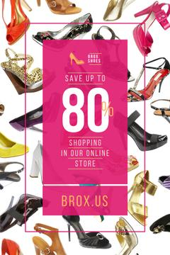Female Shoes Store Sale in Pink