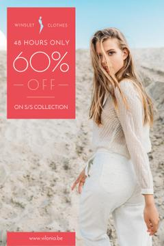 Clothes Sale with Woman in White Outfit