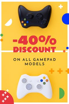 Video Games Ad Gamepads on Yellow