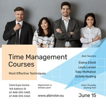 Business Courses Ad Successful Business Team