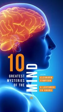 Scientific Event Announcement Glowing Human Brain