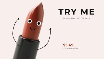 Funny Cartoon Red Lipstick