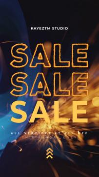 Sale Announcement Grinding Machine Sparks