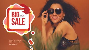 Fashion Sale Ad Woman in Sunglasses