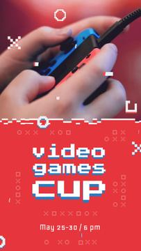 Video Games Ad Hands Holding Gamepad
