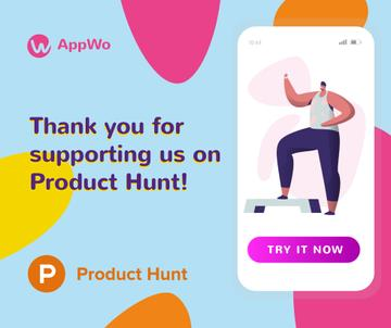 Product Hunt Promotion Fitness App Interface on Screen