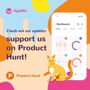 Product Hunt App Stats on Screen