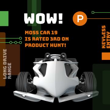 Product Hunt Launch Ad with Sports Car