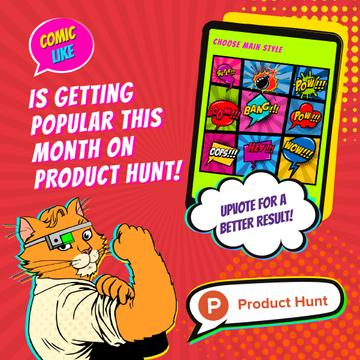 Product Hunt Campaign App with Interface on Screen