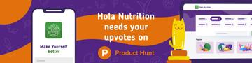 Product Hunt Healthy Nutrition App on Screen