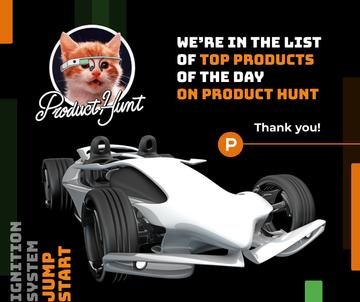 Product Hunt Launch Ad Sports Car