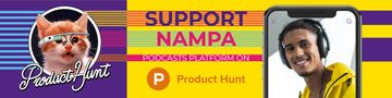 Product Hunt Campaign with Man in Headphones