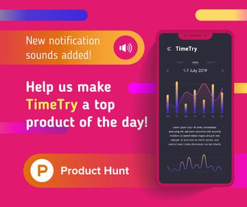 Product Hunt Application Stats on Screen