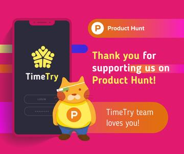 Product Hunt Campaign Ad Login Page on Screen