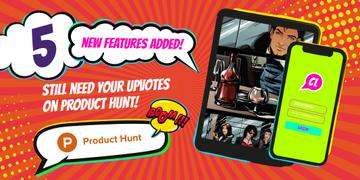 Product Hunt Campaign with App Interface on Screen