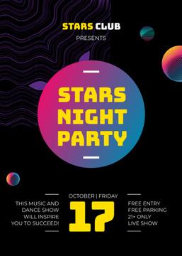 Night Club Glowing Spheres Pattern