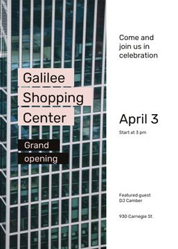 Grand Opening Shopping Center Glass Building