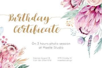 Photo Session Offer with Tender Watercolor Flowers