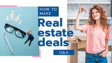 Real Estate Deal Woman Holding Keys