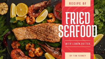 Seafood Recipe Fried Salmon and Shrimps
