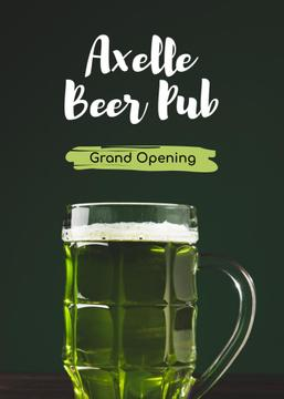 Pub Grand Opening Beer Splashing in Glass