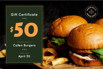 Fast Food Offer with Tasty Burgers and Fries