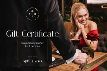 Dinner Offer with Romantic Couple in Restaurant