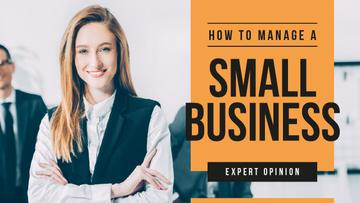 Business Blog Ad Confident Smiling Businesswoman