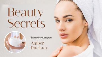 Beauty Secrets Woman Applying Cream