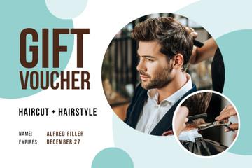 Hair Salon Offer with Man Cutting Hair