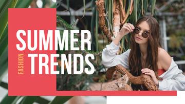 Summer Fashion Ad Woman Wearing Sunglasses