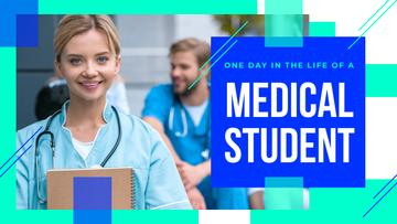 Medical Student with Stethoscope and Notepad