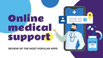 Online Medical Support Doctor on Phone Screen